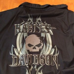 Harley Davidson collared short sleeve button up